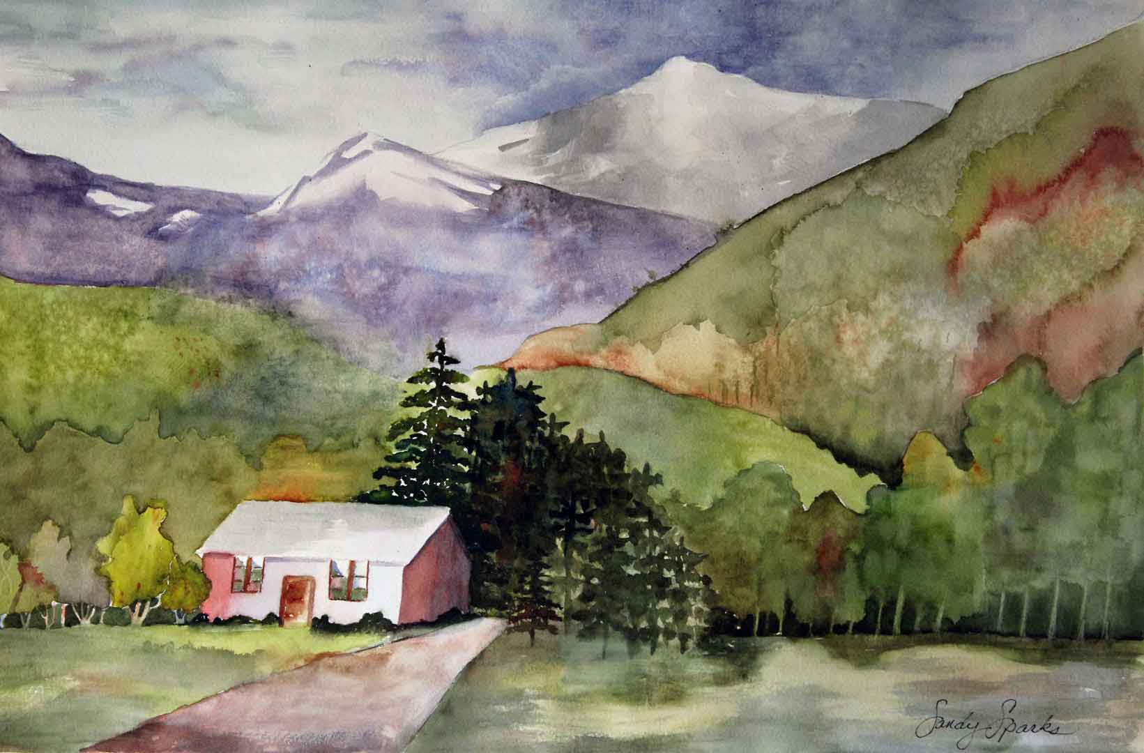 Watercolor_Moumtain_Cabin