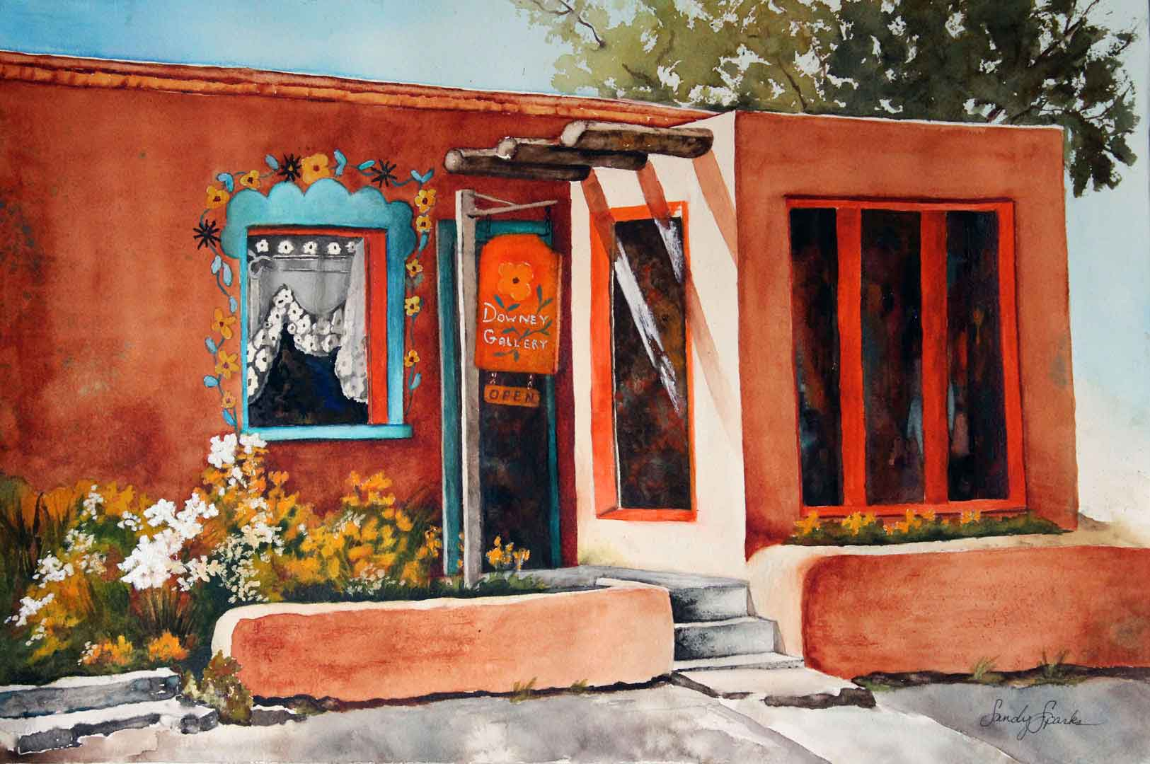 Watercolor_Shopping_In_Santa_Fe