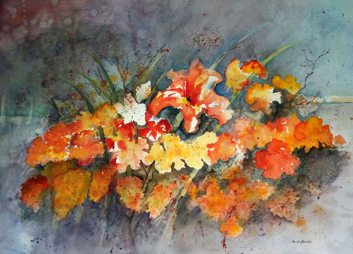 Watercolor_Lillies_Of_The_Field